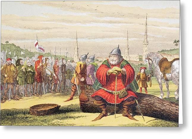 Falstaff Speaks In King Henry Iv Part Greeting Card