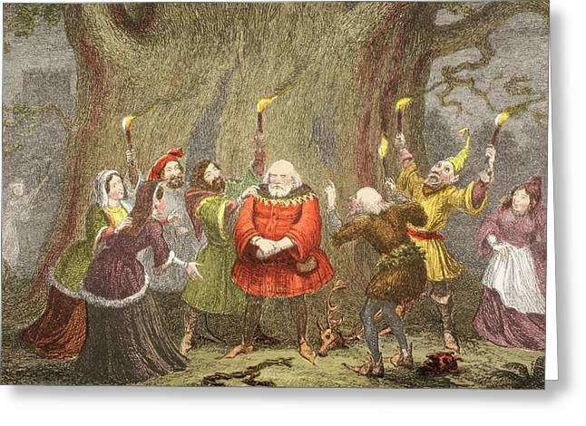 Falstaff Speaks In The Merry Wives Of Greeting Card