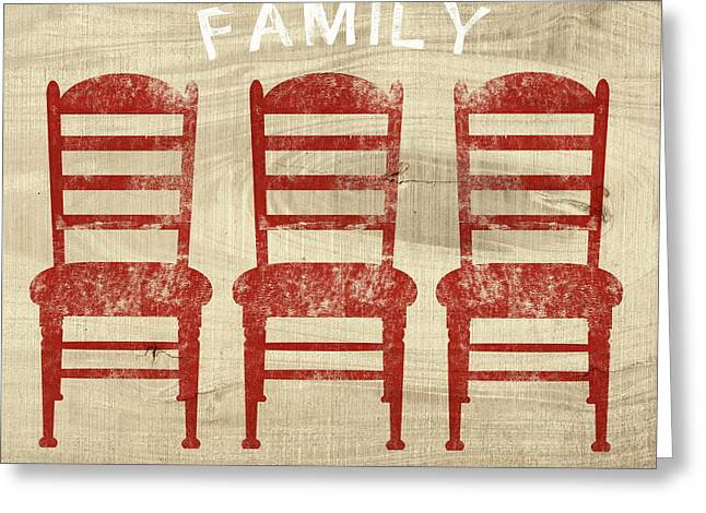 Family- Art By Linda Woods Greeting Card