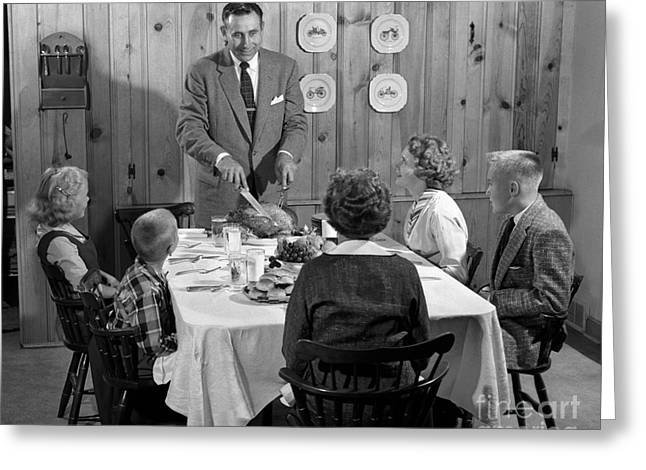 Family Dinner, C.1950s Greeting Card by H. Armstrong Roberts/ClassicStock