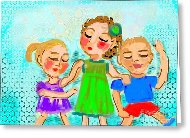 Family Fun Greeting Card by Elaine Lanoue