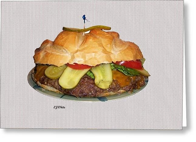 Family Hamburger Greeting Card