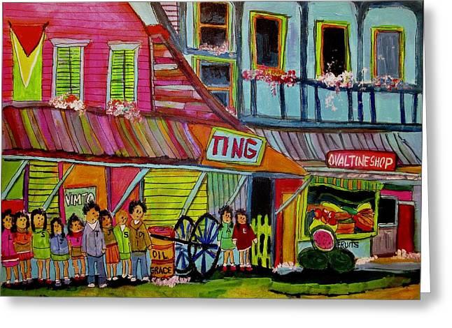 Family In British Guyana Greeting Card by Michael Litvack