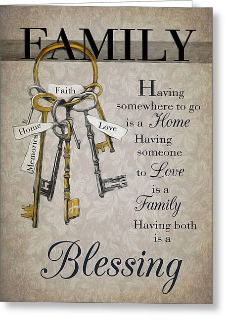 Greeting Card featuring the photograph Family Is A Blessing by Robin-Lee Vieira
