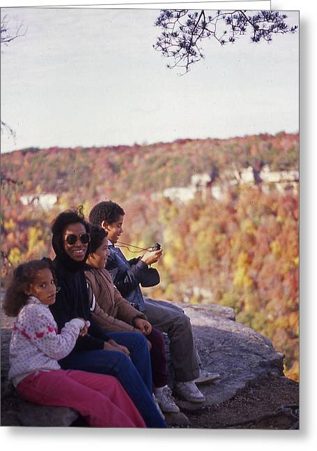 Family Outing Greeting Card by Randy Muir