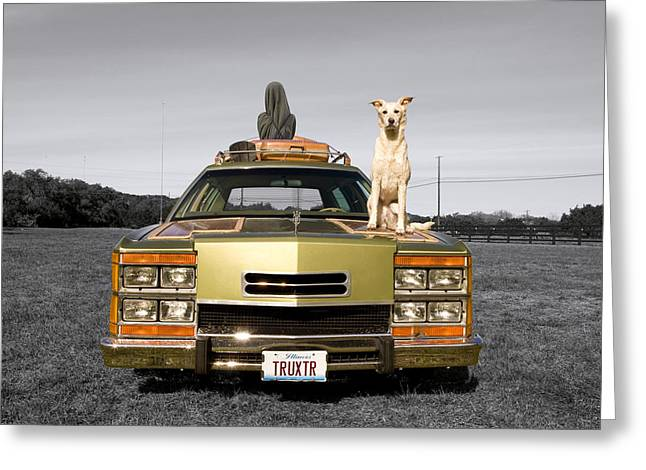 Family Queen Truckster Greeting Card by Jimmy Bruch