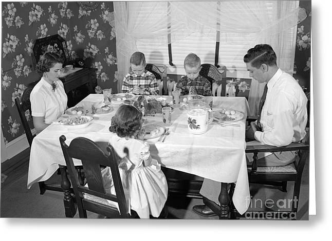 Family Saying Grace, C.1950s Greeting Card by H. Armstrong Roberts/ClassicStock