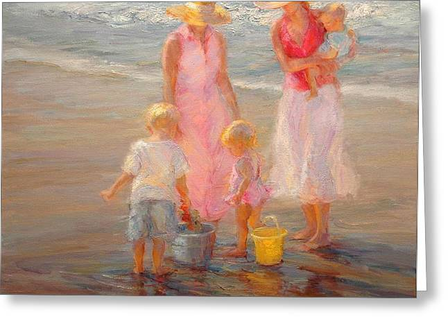 Family Time Greeting Card by Diane Leonard