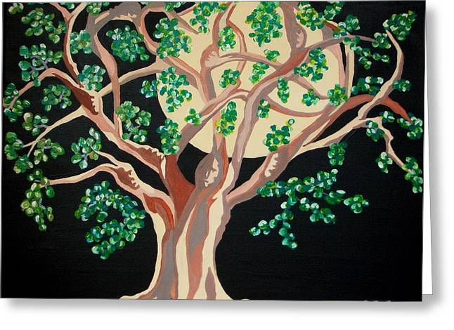 Greeting Card featuring the painting Family Tree by Carolyn Cable