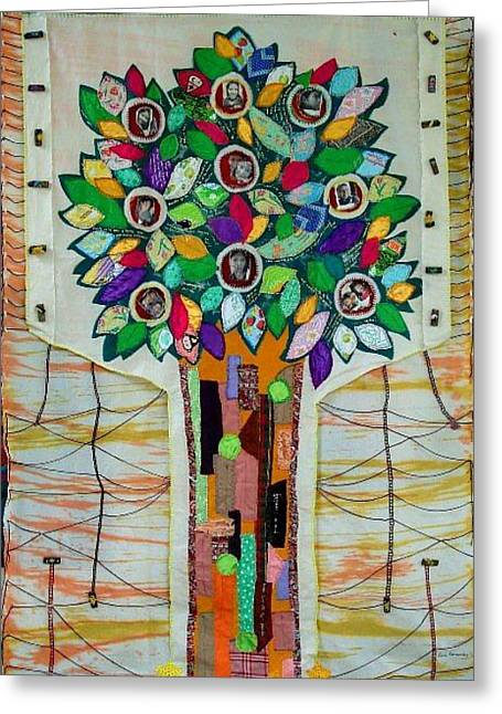 Family Tree Greeting Card by Lorna Diwata Fernandez