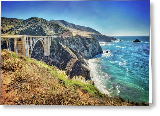 Famous Bixby Bridge - Big Sur California Greeting Card by Jennifer Rondinelli Reilly - Fine Art Photography