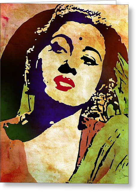 Famous Hindi Movie Actress Madhubala Greeting Card