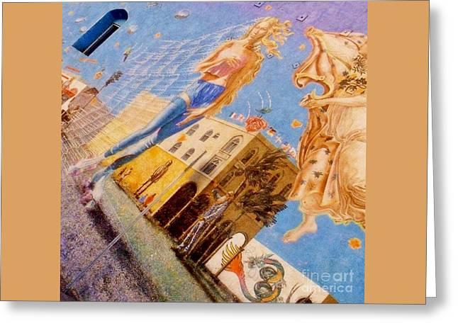 Famous Mural At Venice Beach California Greeting Card by John Malone