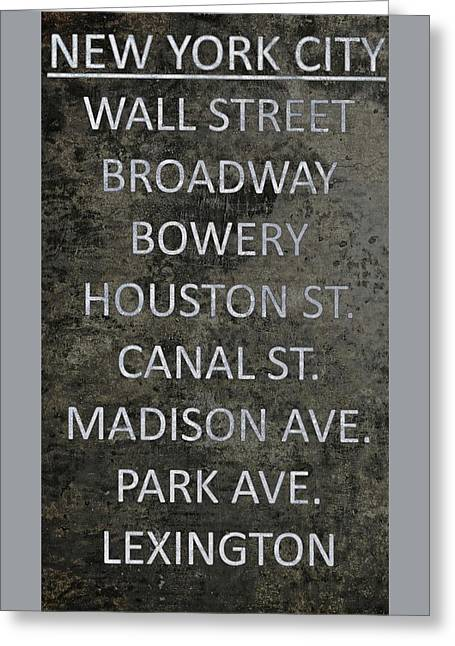 Famous Streets Of New York City Greeting Card