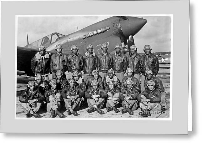 Famous Tuskegee Airmen Greeting Card by Pd