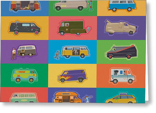 Famous Vans Greeting Card by Mitch Frey