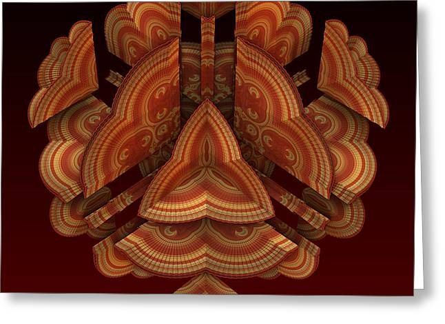 Greeting Card featuring the digital art Fan Dance by Lyle Hatch