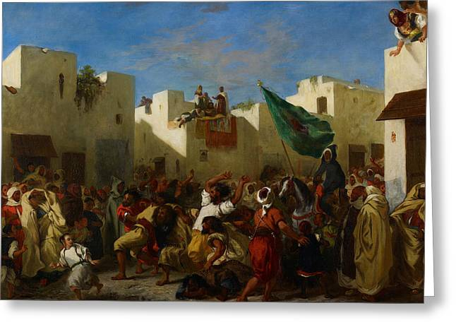 Fanatics Of Tangier Greeting Card by Eugene Delacroix