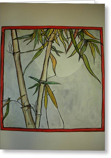 Fanciful Bamboo Greeting Card