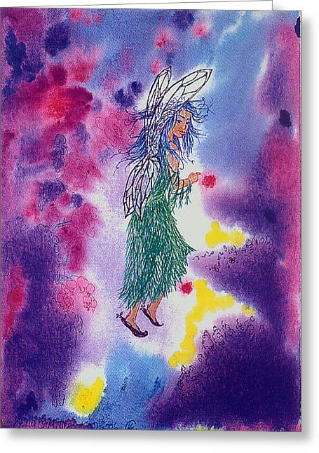 Fanciful Faerie Greeting Card by Kelly Miller