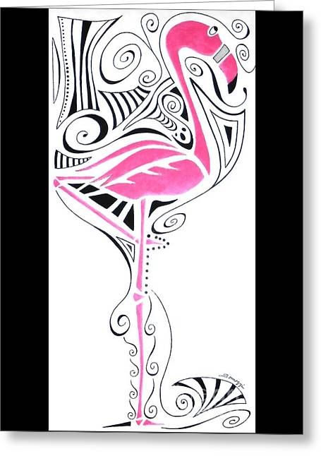 Fanciful Flamingo Greeting Card
