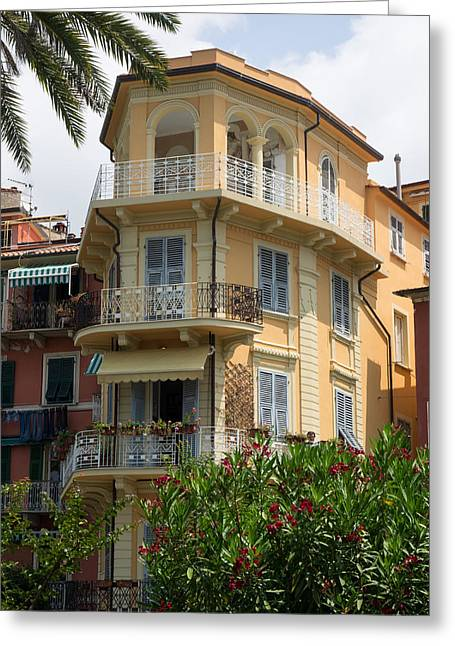 Fancy Building Facing The Sea, Via Greeting Card by Panoramic Images