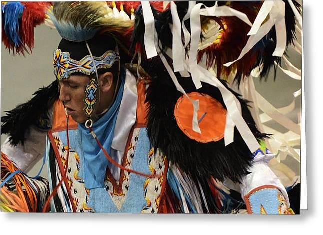 Pow Wow Fancy Dancer 1 Greeting Card by Bob Christopher
