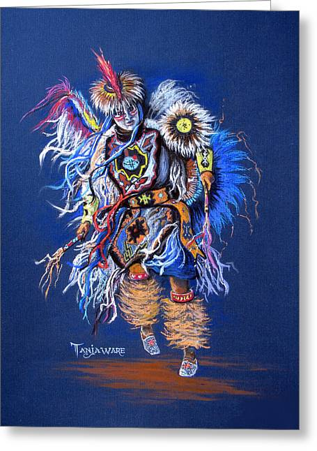 Fancy-dancer Greeting Cards - Fancy Dancer II Greeting Card by Tanja Ware