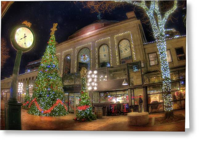 Faneuil Hall Marketplace - Quincy Market - Boston Greeting Card