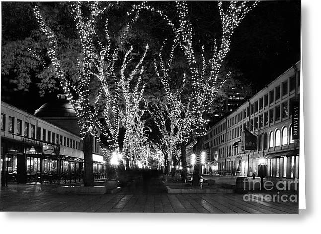 Faneuil Market Place Greeting Card by Frank Garciarubio