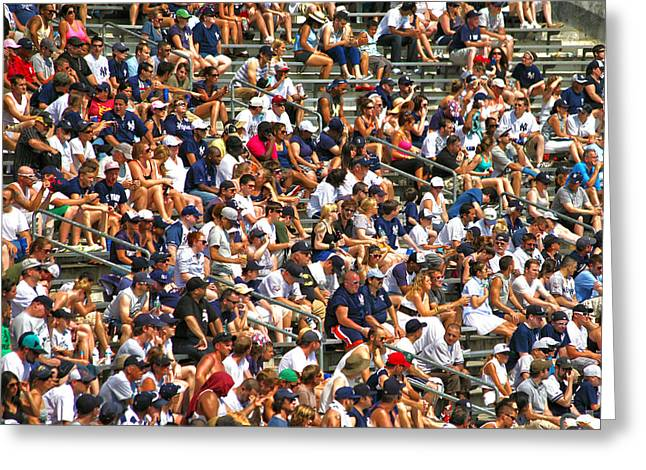 Yankee Stadium Bleachers Greeting Cards - Fans Greeting Card by Mitch Cat