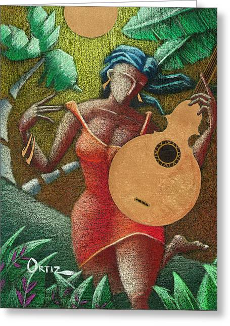 Fantasia Boricua Greeting Card