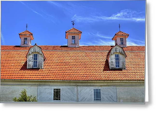 Fantastic Barn Roof With Dormer Windows And Cupolas Greeting Card by William Sturgell