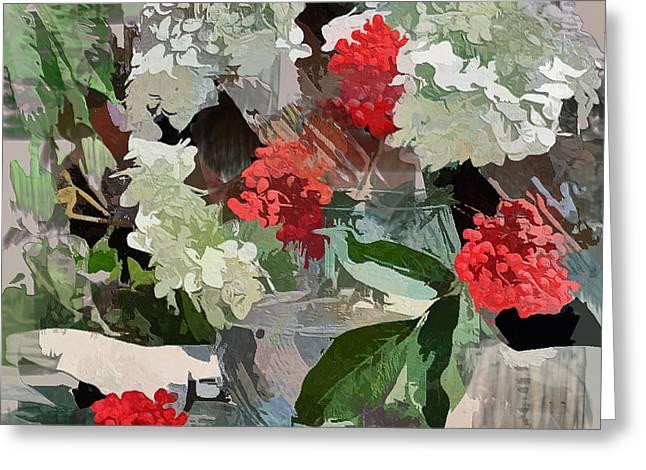 Fantastic Flowers Greeting Card by Yury Malkov