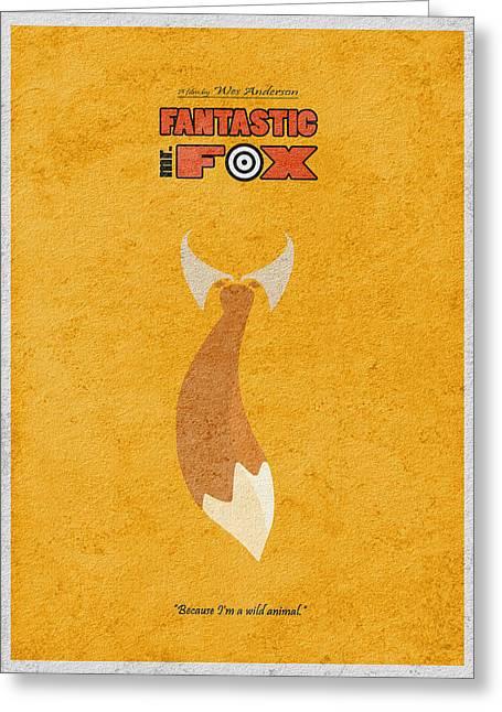 Fantastic Mr. Fox Greeting Card by Ayse Deniz
