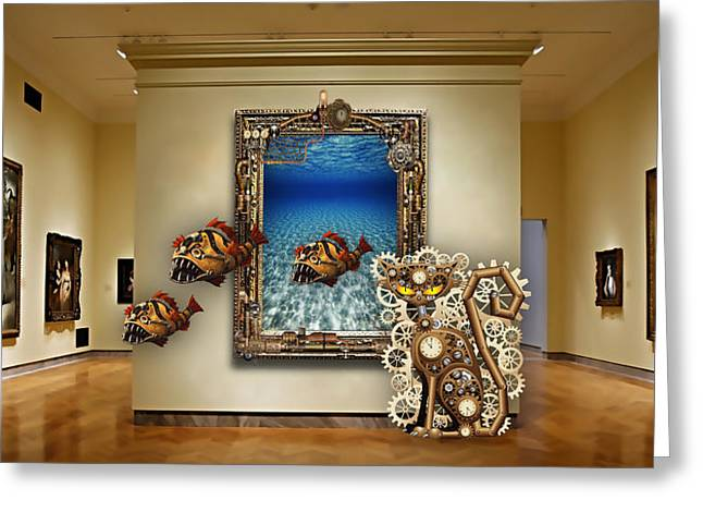 Fantasy Art Museum Collection Greeting Card by Marvin Blaine
