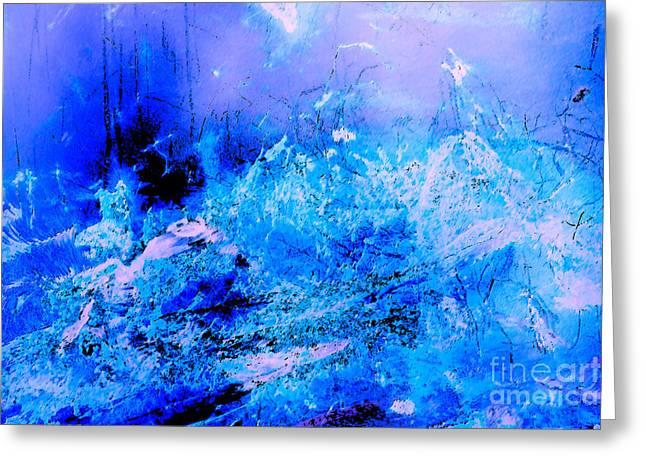 Fantasy Blue Artwork Greeting Card
