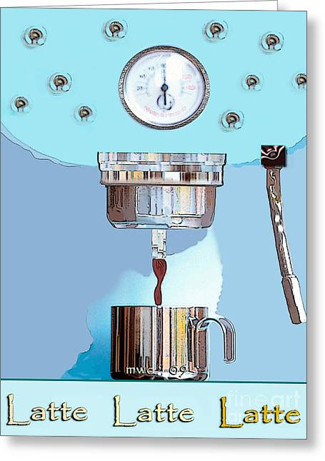 Fantasy Espresso Machine Greeting Card