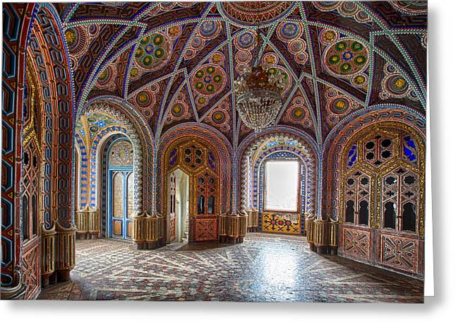 Fantasy Fairytale Palace - Abandoned Building Greeting Card by Dirk Ercken