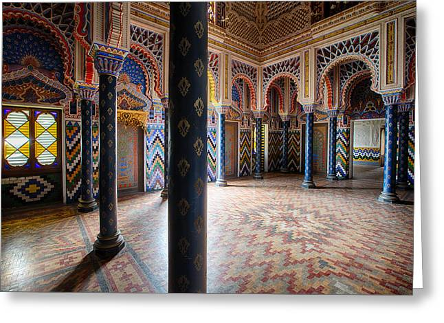 Fantasy Fairytale Palace - Let Light In Greeting Card by Dirk Ercken