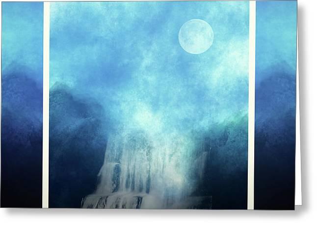 Fantasy Fall Blue Abstract Greeting Card