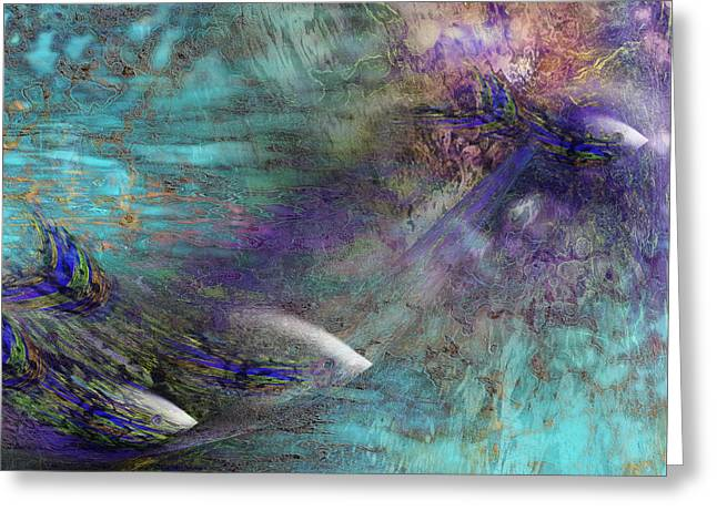 Fantasy Fish Greeting Card by Gae Helton