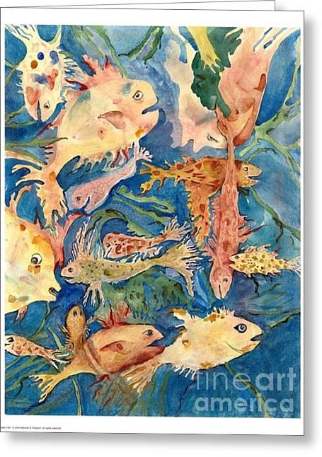 Fantasy Fish Greeting Card by Marlene Robbins