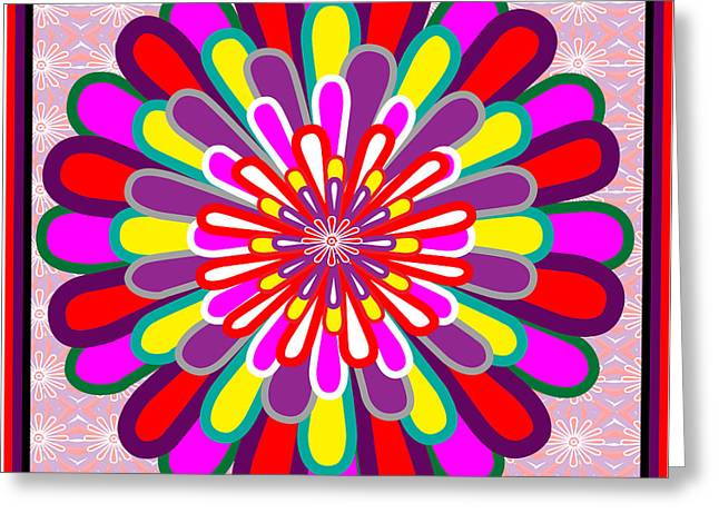 Fantasy Flower Graphics Basics Used This Art To Creat A Lotus Flower Posted Elsewhere In My Gallery Greeting Card by Navin Joshi