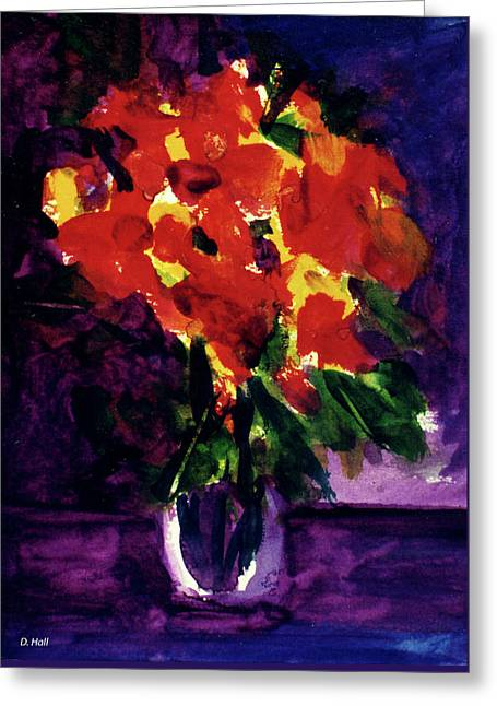 Fantasy Flowers  #107, Greeting Card by Donald k Hall