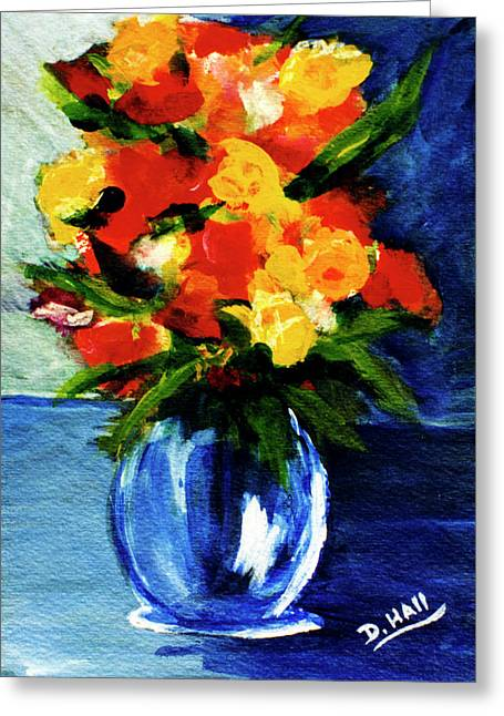 Fantasy Flowers #117 Greeting Card by Donald k Hall