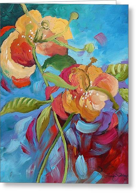 Fantasy Garden  Greeting Card by Linda Monfort