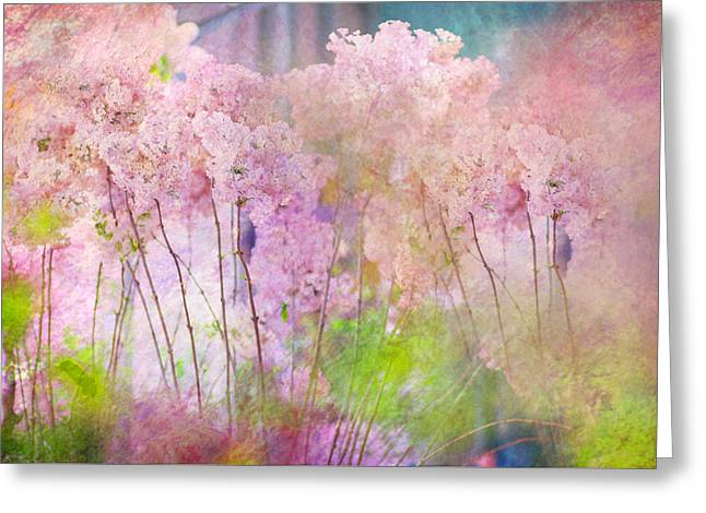 Fantasy Garden Of Spring Greeting Card by Jenny Rainbow