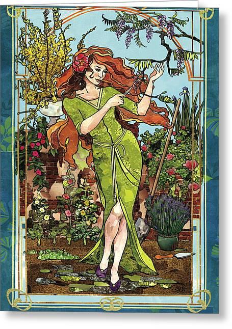 Fantasy Gardening Greeting Card
