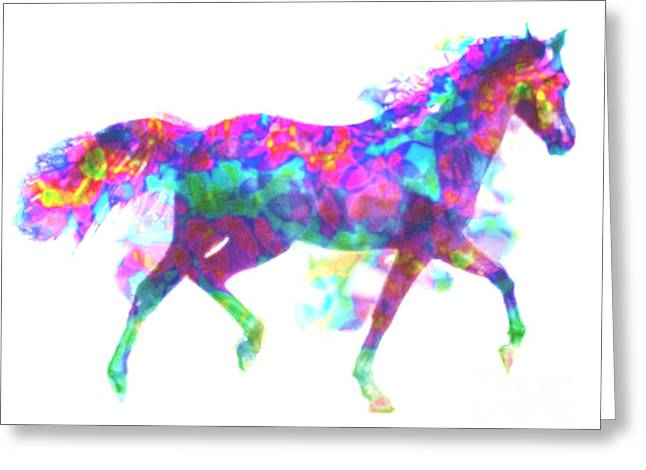 Greeting Card featuring the painting Fantasy Horse by Elinor Mavor